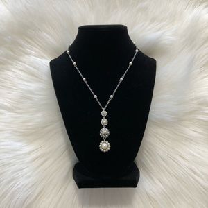 Carolee Pendant Necklace w/ Pearl Accents 16-18 in